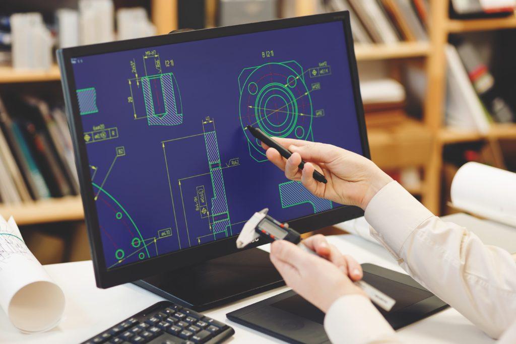 CAD Datei auf Monitor