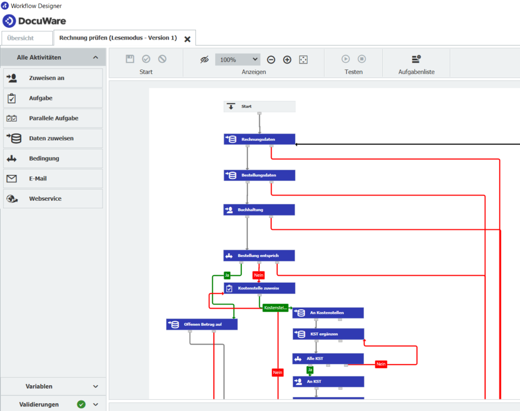 Screenshot Grafik Workflow Manager