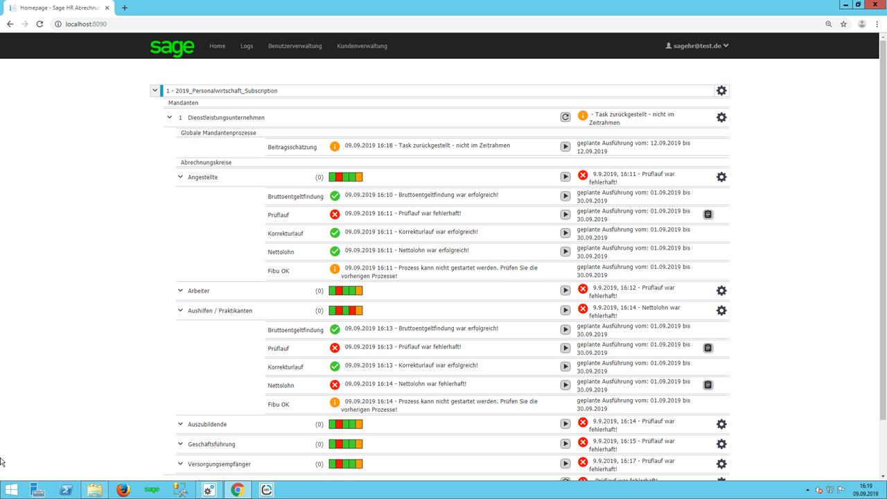 Screenshot Bearbeitung der Automatisierungsanwendung