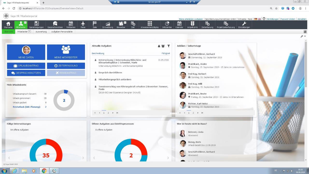 Screenshot HR Dashboard