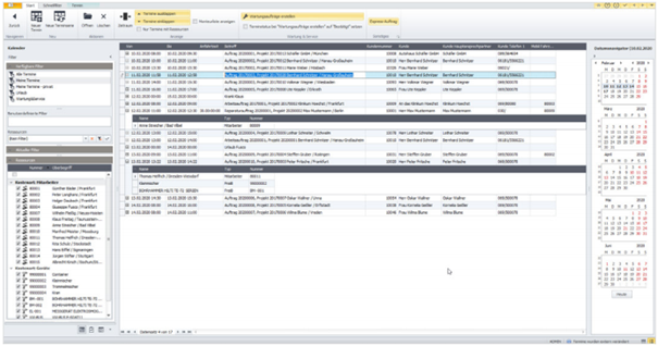 Screenshot Ressourcenplaner